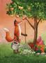 Kettu ja omenat kortti