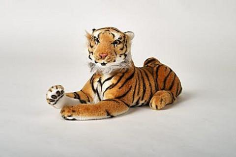 Jämäkkä makaava tiikeri
