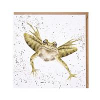 Wrendale loikkiva sammakko kortti