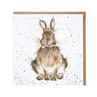 Wrendale kani kukka suussa kortti