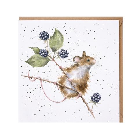 Wrendale hiiri karhunvatukoissa kortti