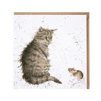 Wrendale kissa ja hiiri kortti