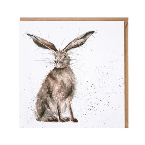 Wrendale hassu kani korvat melkein pystyssä kortti