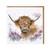 Wrendale ylämaankarja kukkapellossa kortti