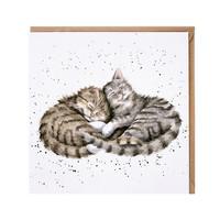 Wrendale lepäävät kissakaverit kortti