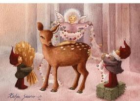 Bambi, tontut ja enkeli kortti