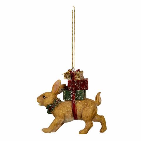 Joulukuusenkoriste ruskea pakettipupu