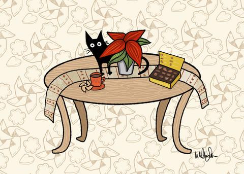 Mustan kissan herkut kortti