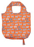 Oranssi lehmäkassi ostoksille