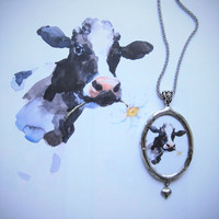 Kotimainen lehmä kaulakoru