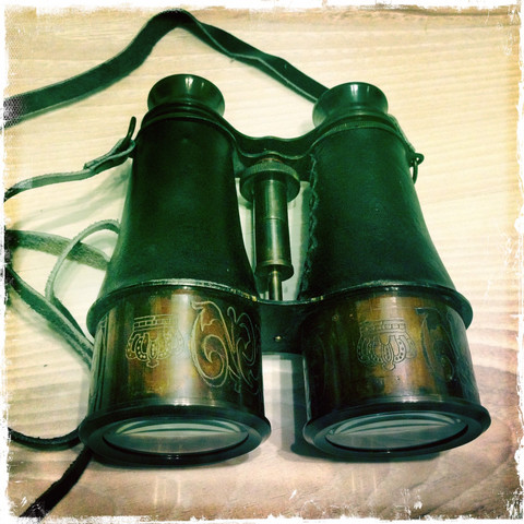 Binoculars, antique style made,