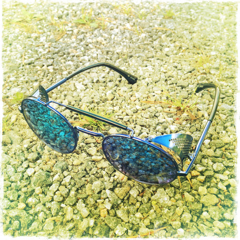 SteamPunk & Vintage style sunglasses - with Mirror Lenses