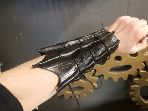 Black Wing Leather Bracers