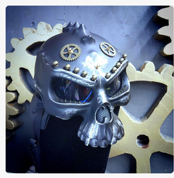 Post Apocalyptic / Steampunk Raider / Rider Helmet Skull with decorations