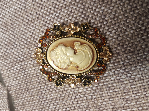 Cameo style Brooch