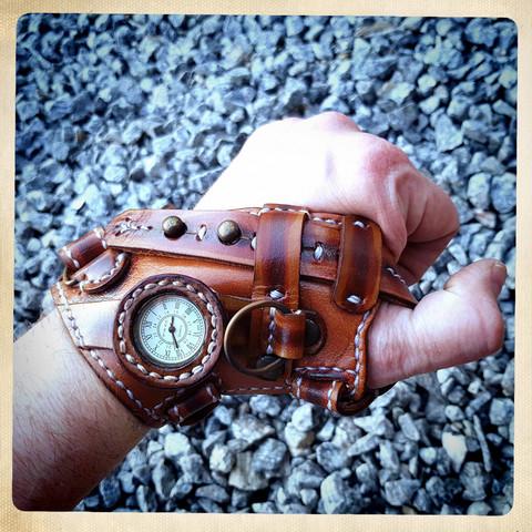 Steampunk Special Watch Cuff / Steampunk style Cuff