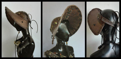 Steampunk Style Hand Made Italian Bonnet