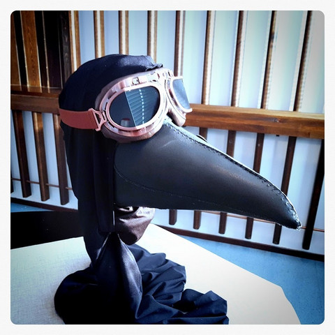 Plaque Doctor Mask, Leather