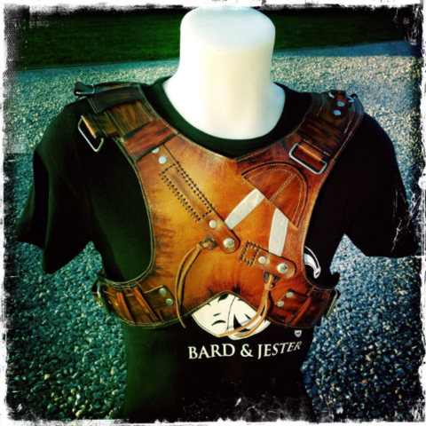 Leather Steampunk/Post Apo style vest