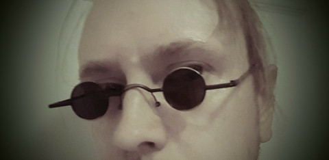 SteamPunk style Metal Frame sunglasses, small lenses