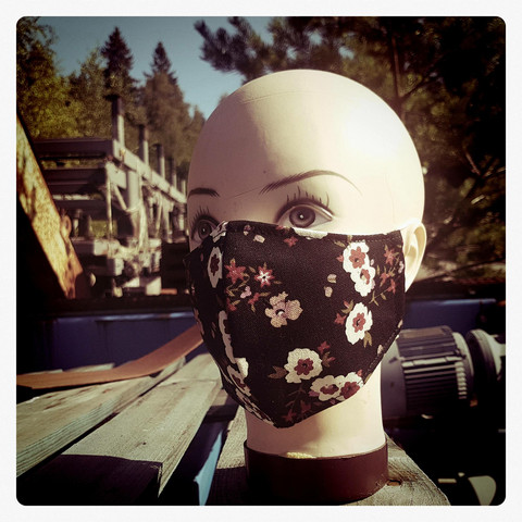 Mask from Fabric, cotton decoration mask, with inside pocket