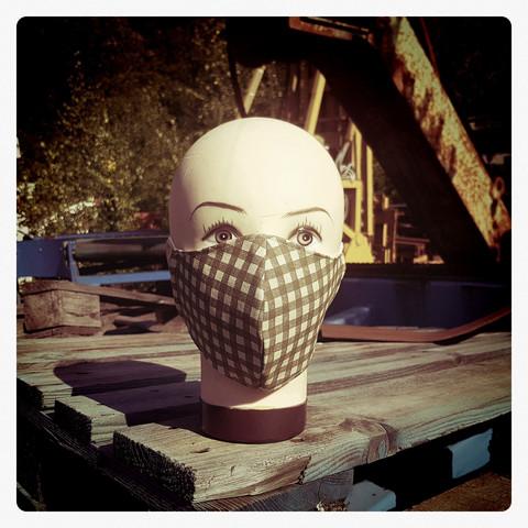 Kankainen Maski, puuvilla koristemaski, sisätaskulla