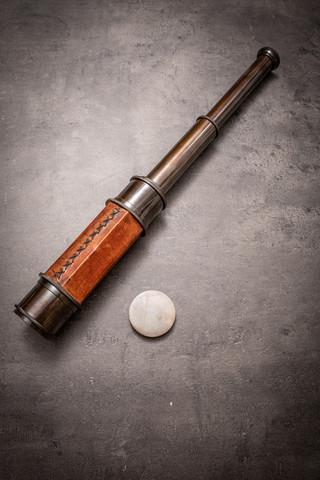 Kaukoputki 65cm pitkä - Merirosvo kiikari - Merenkulku esine - Antiikki replika - Messinki koristelu - Steampunk - Cosplay