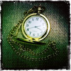 Big Pocket Watch -  Golden Colour