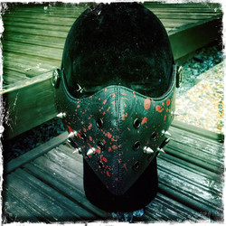 Mask PU leather with Special Decorations / Post Apocalyptic / Hard Core