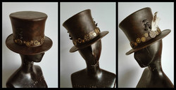 Steampunk Style Hand Made Italian Top Hat