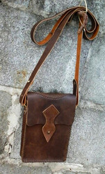 Steampunk Style Oiltanned Leather Bag