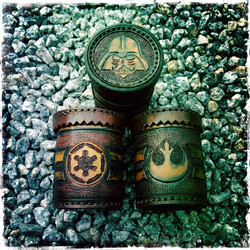 Dice cup, leather, Star Wars