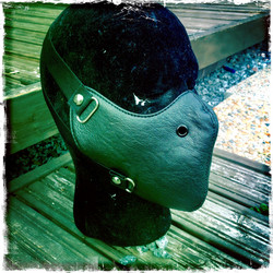 Leatherette mask, black