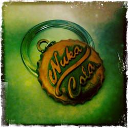 Nuka Cola -cap key fob