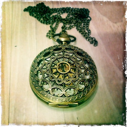 Big Mechanical Pocket Watch with nice decorations
