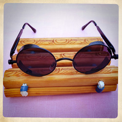 SteamPunk style Metal Frame sunglasses