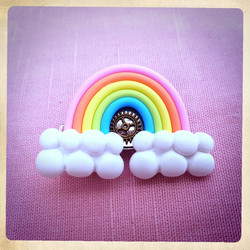 Rainbow HairPin SteamP / Brooch Kawai Cute