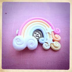 Rainbow HairPin SteamP / Brooch Kawai Cute