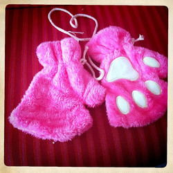 Soft Cat/Animal Paw Gloves