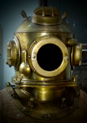 Diving Helmet Replica, Old Style Metal-Brass Diving Helmet, Antique Replica Design