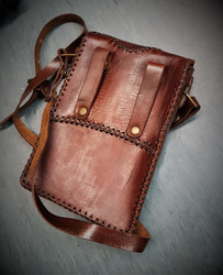 Belt & Shoulder bag in Steampunk style