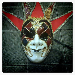 Jester (& Bard) Mask in Italian / Historical Masquerade style