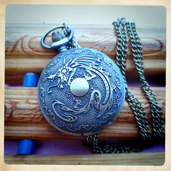 Big Battery Pocket Watch with Dragon design