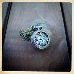 Small Battery pocket watch number decorated cover