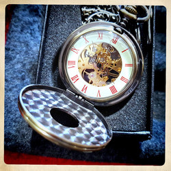Mechanical Pocket Watch with Zodiac decor