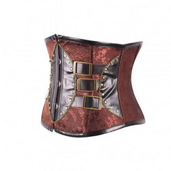 Steampunk style Underbust Corset with soft metal bones
