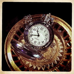 Battery Pocket Watch with Tree of life image