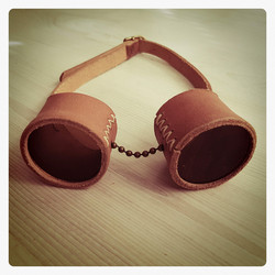 Goggles Basic Leather Model with changable lenses