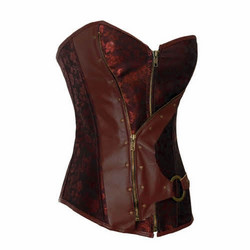 Steampunk style Corset with soft metal bones
