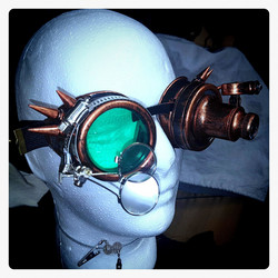 Goggles with Special Steampunk attitude mad doctor with spot light and Magnifying lenses